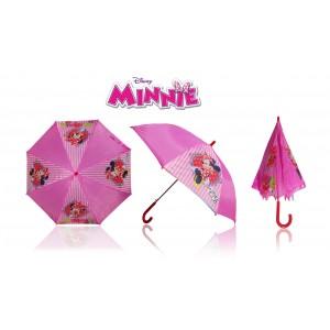 Ombrello da pioggia ideale per la scuola Minnie fondo rosa comodo leggero e di facile impugnatura Disney