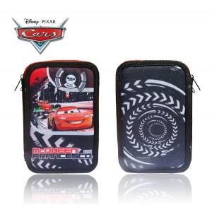 Astuccio portapastelli 3 cerniere 38 pz scuola colori matite cancelleria Disney Cars Saetta McQueen