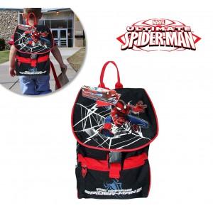 Zaino scuola asilo e tempo libero Spiderman Marvel stampa in rilievo cartella a spalla 33 x 22 x 12 cm 56499