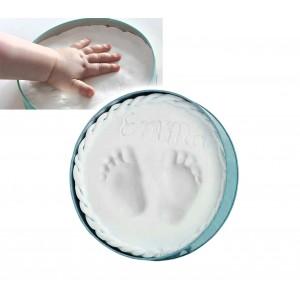 Kit per calco in gesso per ricordo impronte mano e/o piede bambini facile da usare