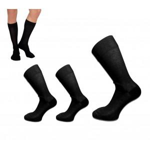 Pack di 6 o 12 paia di calze in filo di scozia da uomo colore nero in taglia unica