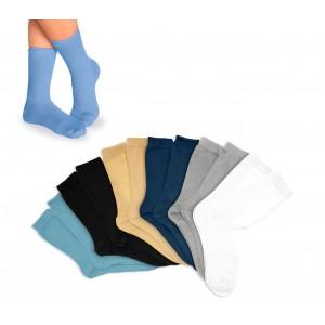 Pack di 3 - 6 - 12 calzini corti in cotone colorati per bambini in diverse taglie