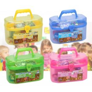 Kit decoupage per bambini in valigetta CRAFT ART CASE con 127 accessori colorati per le sue creazioni