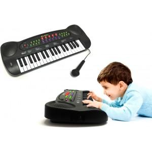 Pianola MUSIC 37 tasti con microfono luci e 20 suonerie pianoforte varie funzioni bambini