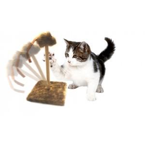Tiragraffi con molla topino oscillante a peluche gioco  per gatti