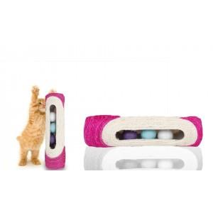 Rullo in sisal tiragraffi con palline sonore  gioco  per gatti