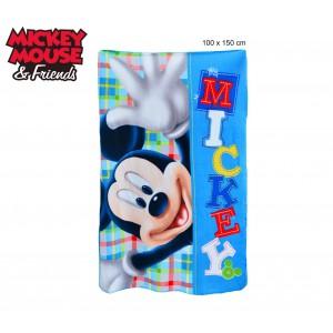 Coperta in pile con stampa Mickey Mouse 100 x 150 cm caldo plaid con personaggi Disney 1108