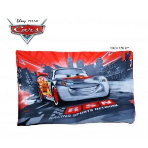 Coperta in pile con stampa Cars 100 x 150 cm caldo plaid con personaggi Disney 0926