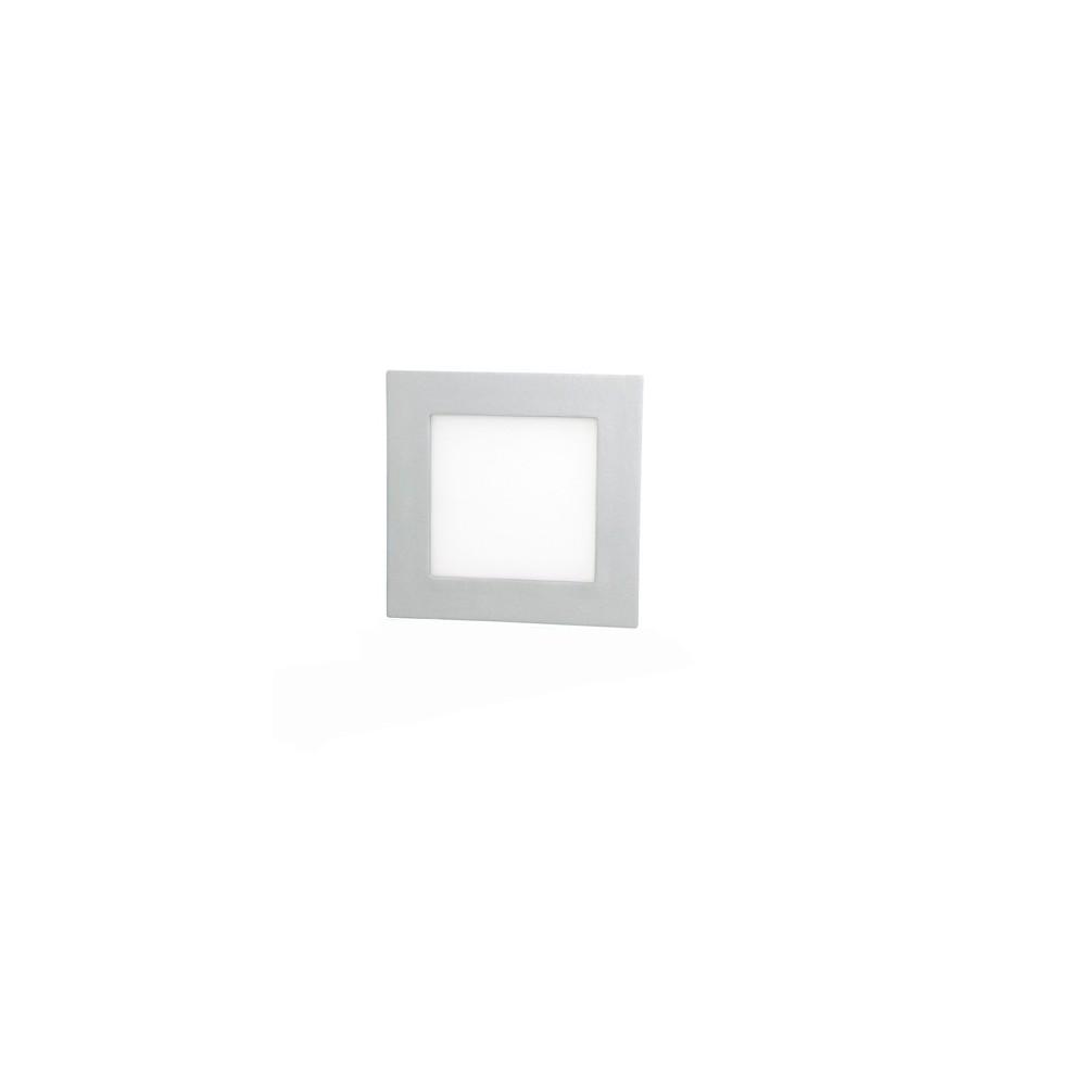 Faretto led luce bianca risparmio energetico quadrato diverse misure e watt