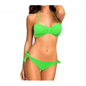 XS5077 Costume bikini a fascia mod. Bonny con fiocco vintage