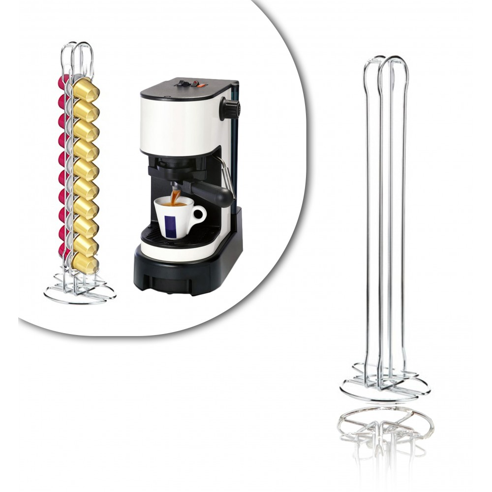726105 Stand per capsule caffè portacapsule in metallo 20 posti design moderno