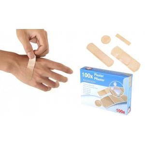 Pack 100 cerotti resistenti all'acqua COMFORT AID medicazioni sterili varie misure e forme