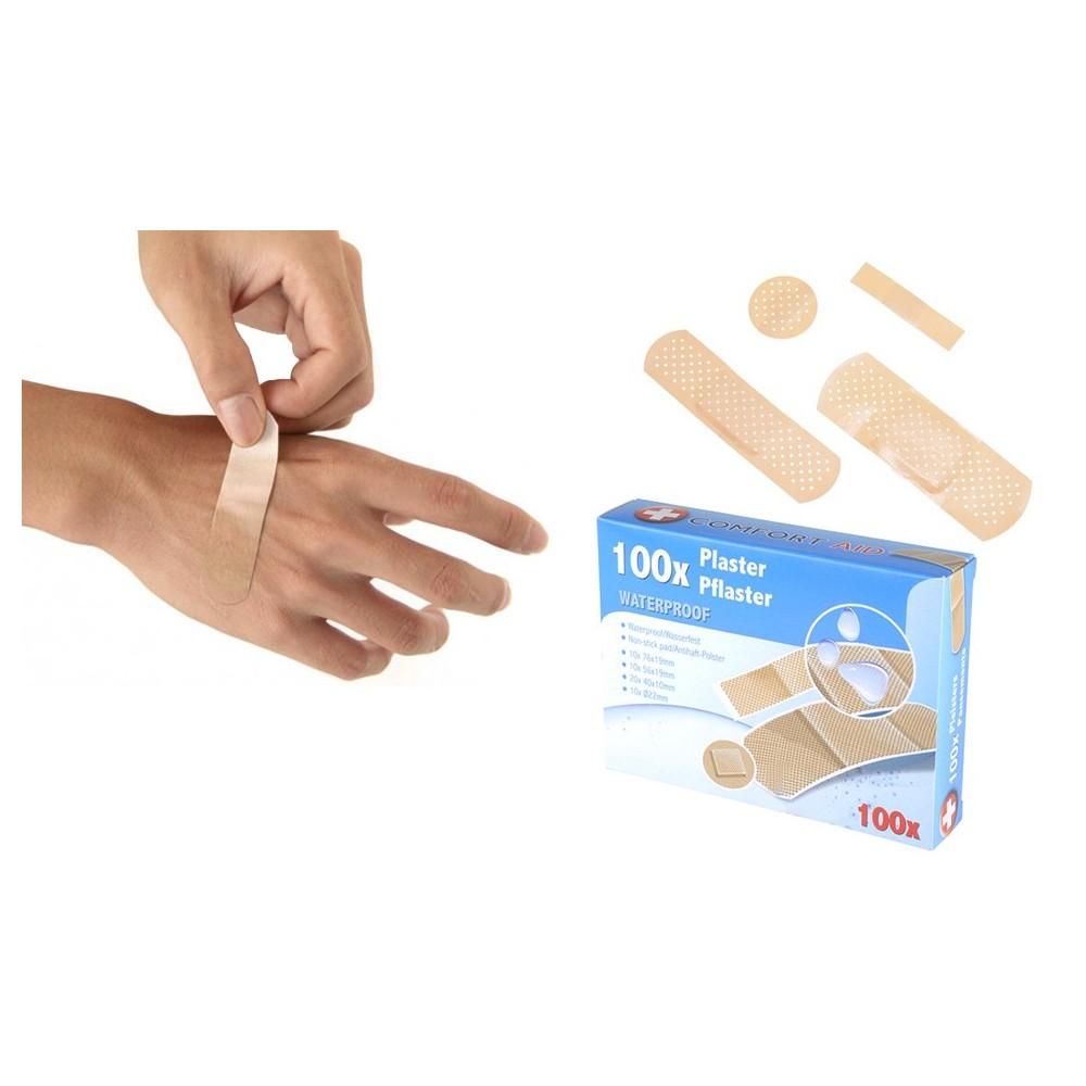 48339 Pack 100 cerotti waterproof COMFORT AID medicazioni sterili
