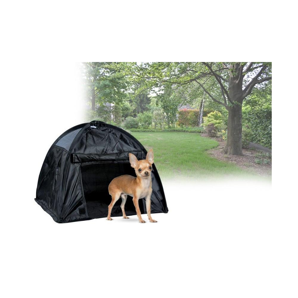 Petyoung Tenda per Animali con Tappetino Cani Gatti Piccoli Animali Rifugio Casa da Letto per Campeggio Viaggi Allaperto Coperta Tenda per Gatti Rimovibile E Lavabile a Strisce