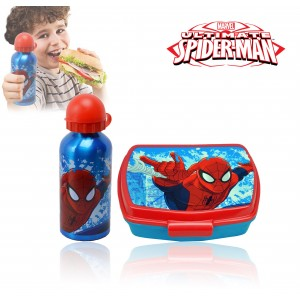 MV92185 Kit portamerenda Spiderman con borraccia 500ml