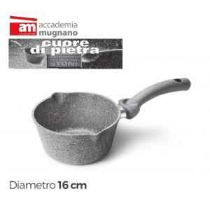 Casseruola conica antiaderente  16 c m Accademia Mugnano Cuore di Pietra