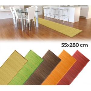Tappeto in bamboo in legno naturale 280x55cm