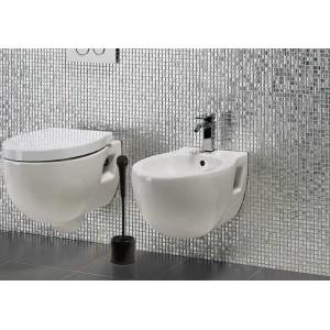 Scopino per WC a forma di micorfono scovolino toilette due colori