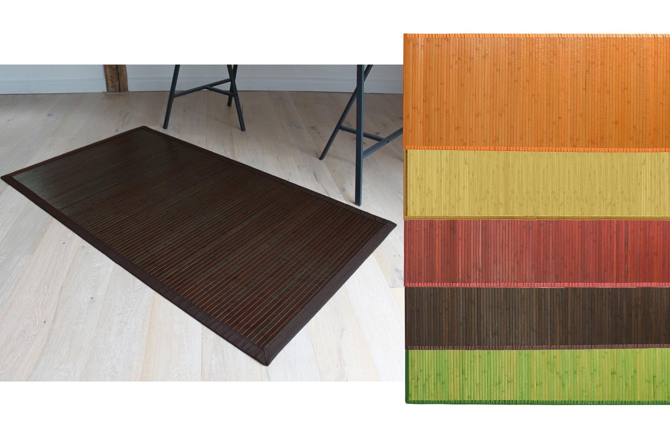 Tappeto in bamboo in legno naturale 60x90cm