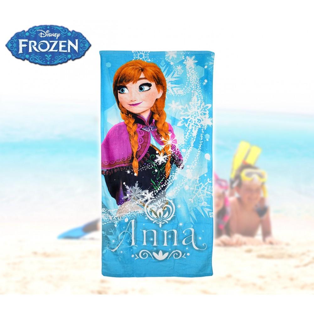 WD16936 Telo mare principessa Anna Frozen 70x140 cm 100% cotone asciugamano