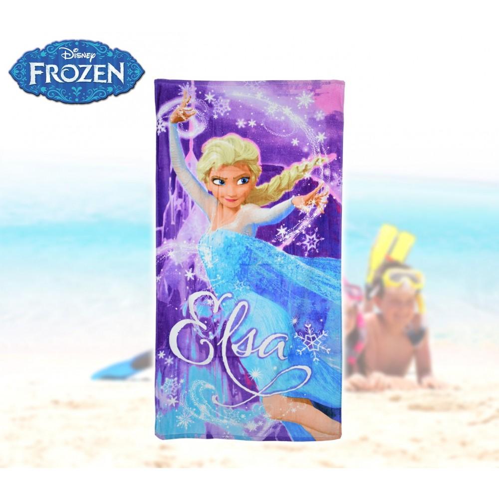 WD16935 Telo mare principessa Elsa Frozen 70x140 cm 100% cotone asciugamano