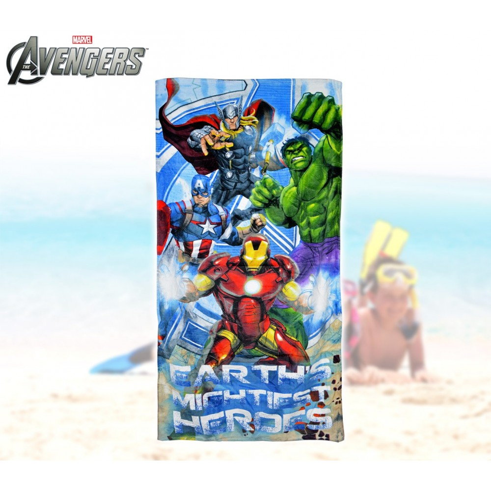 MV92277 Telo mare The Avengers supereroi 70x140 cm 100% cotone