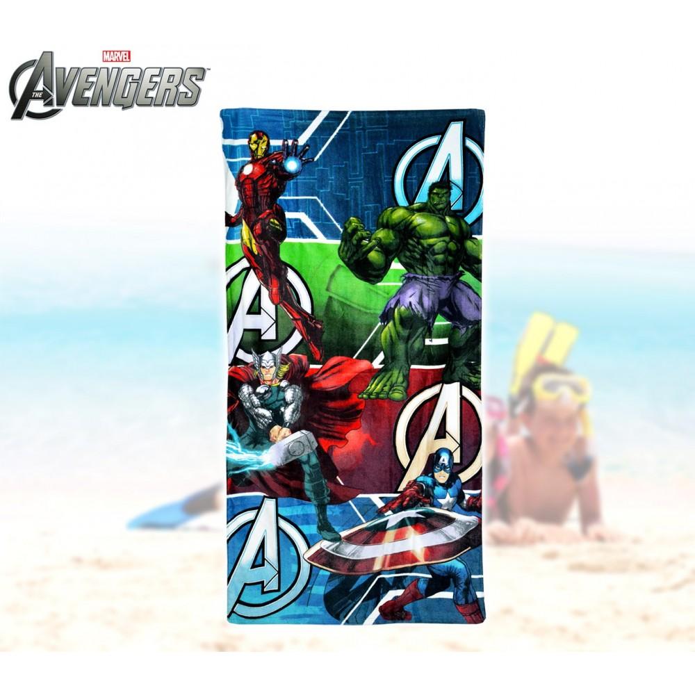 MV92260 Telo mare The Avengers supereroi 70x140 cm 100% cotone asciugameno