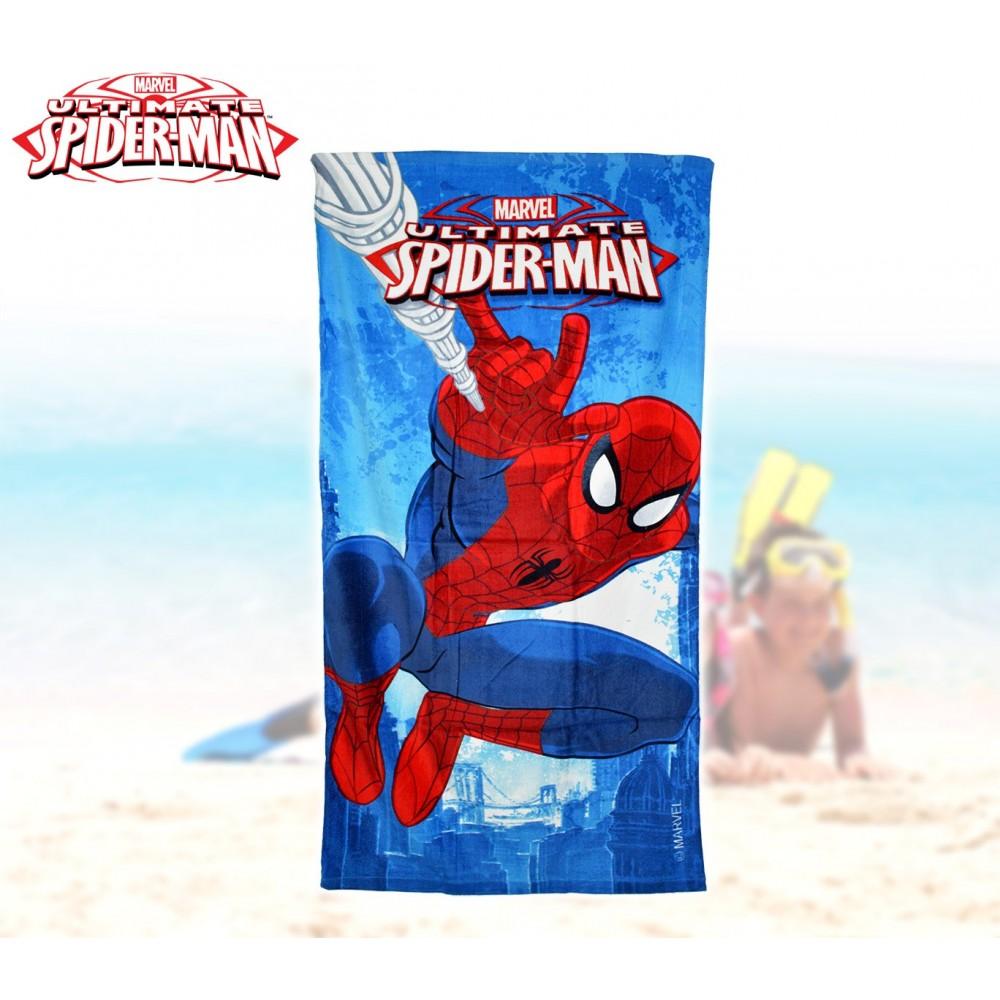 MV15066 Telo mare Spiderman marvel 70x140 cm 100% cotone asciugamano
