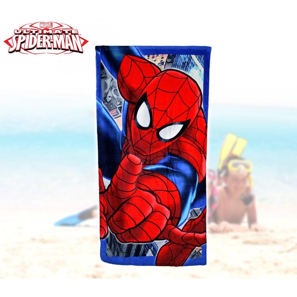 MV51003 Telo mare Spiderman marvel 70x140 cm 100% cotone asciugamano