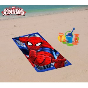 MV51003 Telo mare Spiderman 70x140 cm 100% cotone