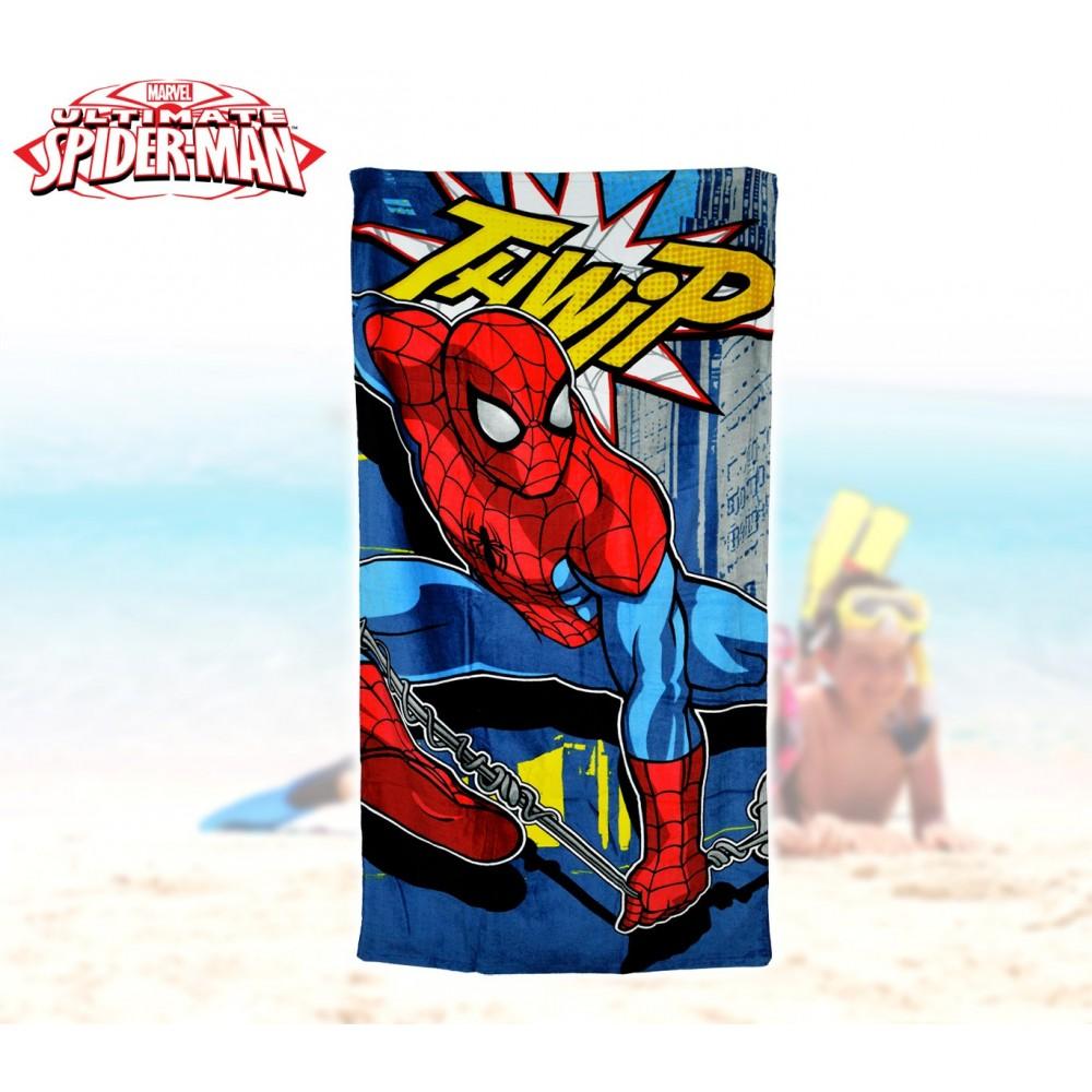 MV92258 Telo mare Spiderman marvel 70x140 cm 100% cotone asciugamano