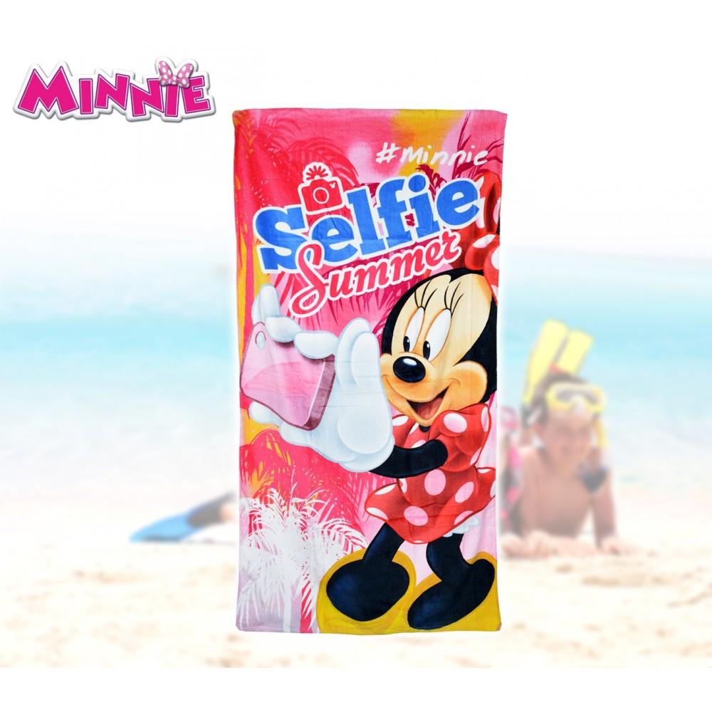 WD16933 Telo mare Minnie Selfie70x140 cm 100% cotone asciugamano