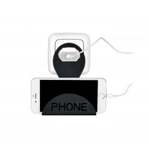 Image of 690043 Supporto da presa universale per ricarica smartphone salvaspazio 8015484518899