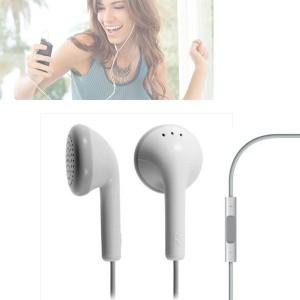 Auricolari cuffie bianche smartphone controllo volume mp3 ipod