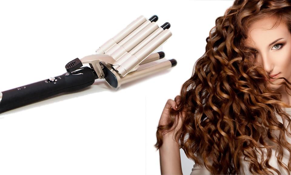 new concept bf151 afe5d PIASTRA PENTA-FERRO PER capelli a onde 5 tubi rivestimento ceramica 45 W