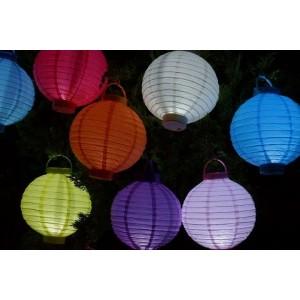 Pack 5 lanterne in carta a led illuminazione interna ed esterna