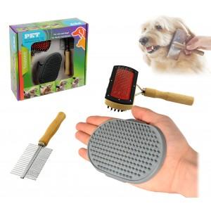 Kit di spazzole per la pulizia e la cura del cane