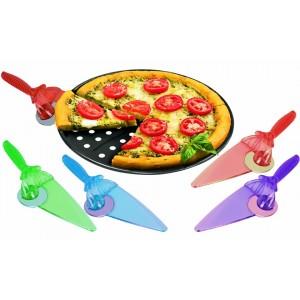 Paletta e lama  rotante taglia pizza 2 in 1 lama in accio inox TAGLIA e SERVI