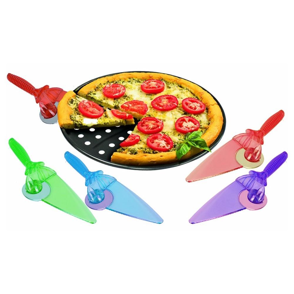 22302 Paletta e lama rotante taglia pizza 2 in 1 lama in accio inox TAGLIA e SERVI