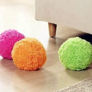 Pallina mop in 4 colori con panni intercambiabili per pulizia pavimenti
