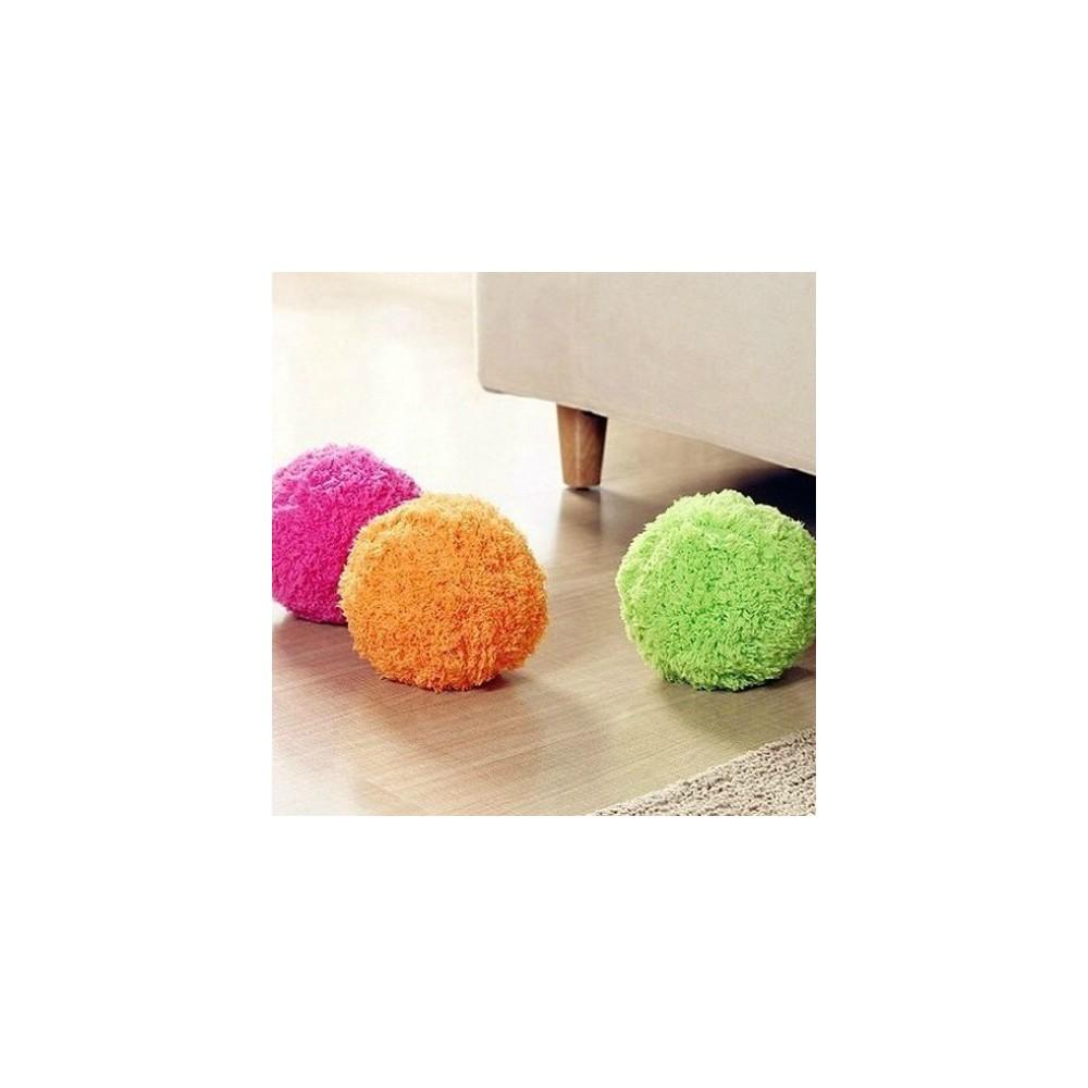 Pallina mop con panni intercambiabili per pulizia pavimenti e parquet
