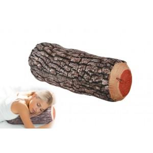 Cuscino da nuca decorativo a forma di tronco d'albero