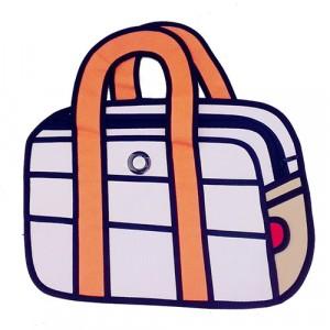 Image of Borsa con manico 3d cartoon moda design fumetto arancione 7106899068138