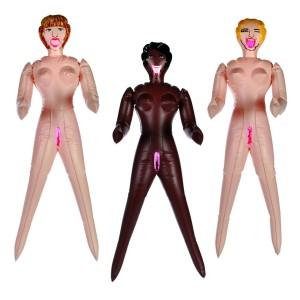 612717 Mini bambola gonfiabile in tre varianti sexy gadget addio al celibato