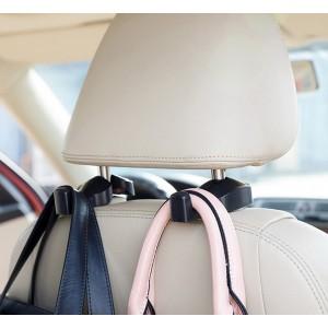 Set 2 ganci portaoggetti borse e buste da sediolino auto due colori