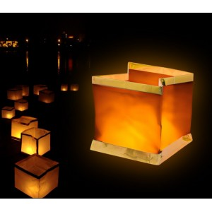 5 Lanterne galleggianti con candela tea light inclusa
