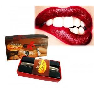 612213 Vibratore in plastica con aroma di cioccolato chocolate vibrator