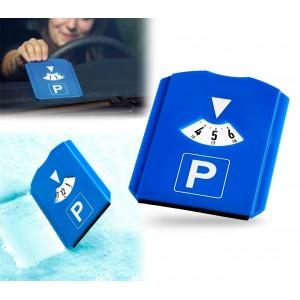 Image of Disco orario auto in plastica multiuso con raschietto ghiaccio e brina 8014524745875