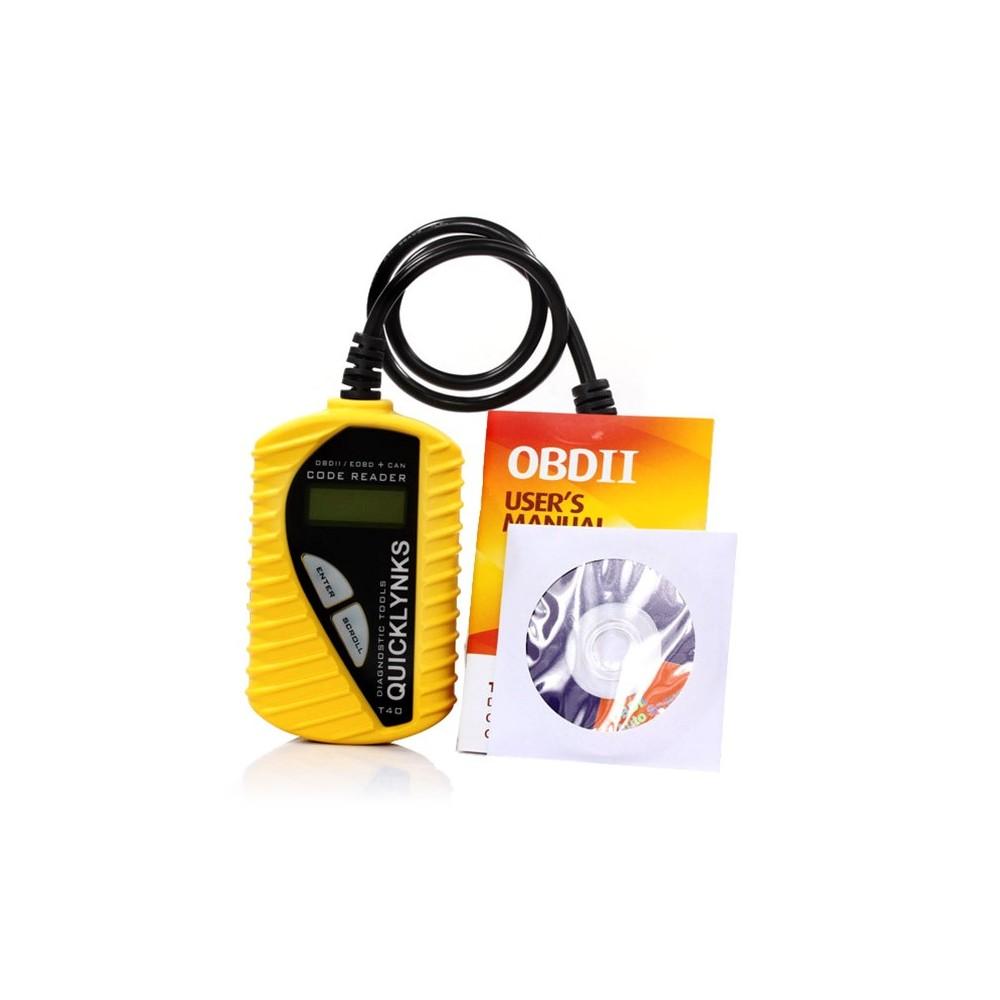 Kit diagnostica auto OBD2 OBDII universale T40 scanner lettore codici device