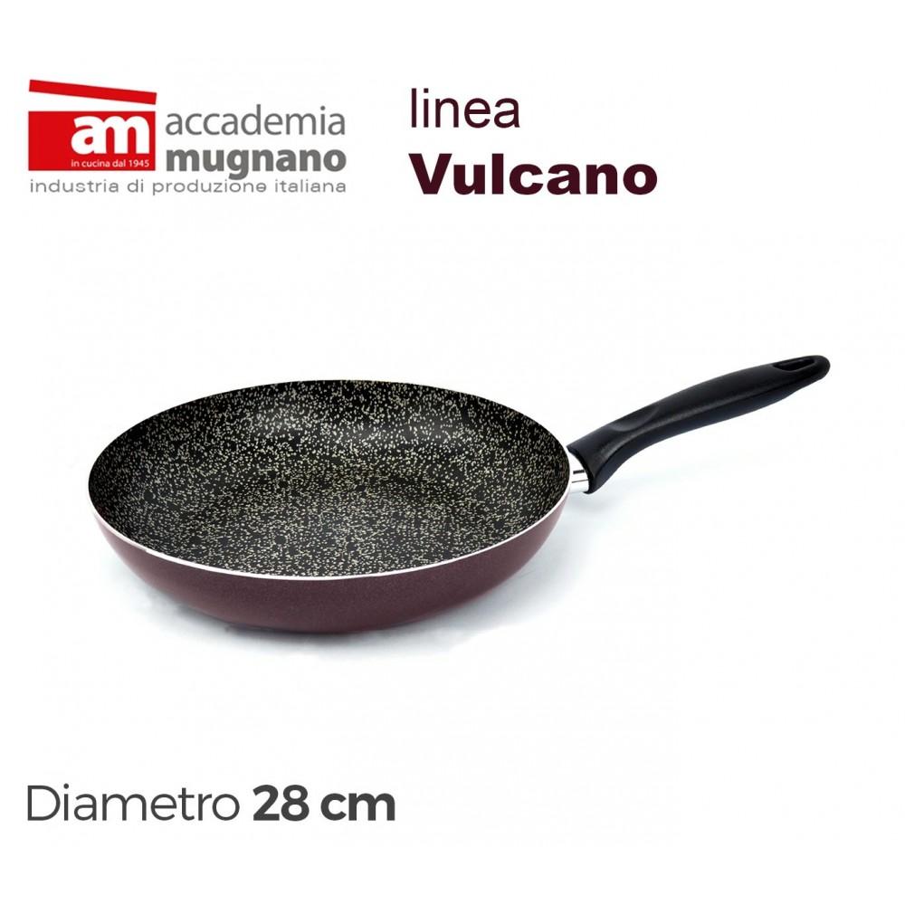 VUPDL28 Padella antiaderente Accademia Mugnano linea Vulcano 28cm effetto pietra